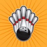 Jogo de elemento 2 do projeto da esfera de bowling ilustração do vetor