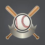 Jogo de elemento 2 do projeto do basebol ilustração stock
