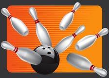 Jogo de elemento 3 do projeto da esfera de bowling Ilustração Stock