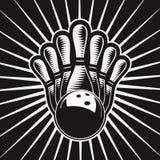 Jogo de elemento 4 do projeto da esfera de bowling Ilustração do Vetor