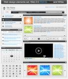 Jogo de elementos 1 do projeto de Web Imagem de Stock Royalty Free