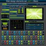 Jogo de elementos 3 do projeto de Web Fotos de Stock