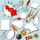 Jogo de elementos cómicos Imagem de Stock Royalty Free