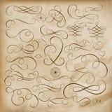 Jogo de elementos caligráfico do projeto Eps 10 Foto de Stock Royalty Free