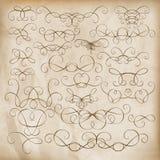 Jogo de elementos caligráfico do projeto Eps 10 Foto de Stock