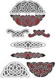Jogo de elementos celtas do projeto Imagem de Stock Royalty Free