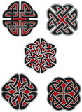 Jogo de elementos celtas do projeto Fotos de Stock Royalty Free