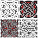 Jogo de elementos celtas do projeto ilustração do vetor