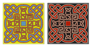 Jogo de elementos celtas do projeto do vetor Fotos de Stock Royalty Free