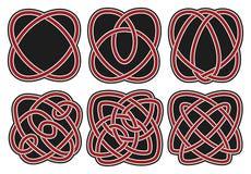 Jogo de elementos celtas do projeto do vetor Imagem de Stock Royalty Free