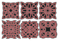 Jogo de elementos celtas do projeto do vetor Imagens de Stock
