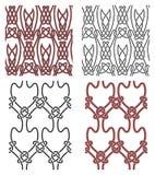 Jogo de elementos celtas sem emenda do projeto do vetor Fotografia de Stock Royalty Free