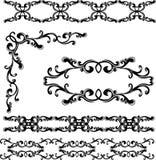 Jogo de elementos decorativo ilustração royalty free