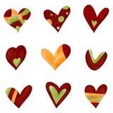 Jogo de elementos decorativos Fotografia de Stock Royalty Free