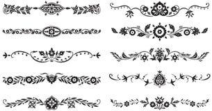 Jogo de elementos decorativos Imagens de Stock