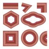 Jogo de elementos decorativos Fotografia de Stock