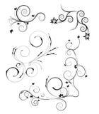 Jogo de elementos decorativos florais Fotografia de Stock Royalty Free
