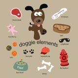 Jogo de elementos do cão Fotos de Stock Royalty Free