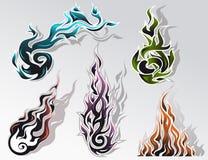 Jogo de elementos do incêndio Foto de Stock