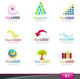 Jogo de elementos do logotipo, parte 3 Imagem de Stock
