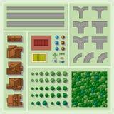 Jogo de elementos do mapa Imagem de Stock