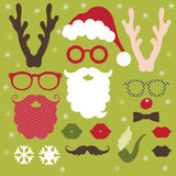 Jogo de elementos do Natal ilustração do vetor
