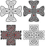 Jogo de elementos do projeto das cruzes celtas Fotos de Stock Royalty Free