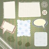 Jogo de elementos do projeto do scrapbook ilustração stock