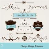 Jogo de elementos do projeto do vintage. Imagem de Stock