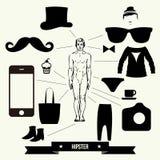 Jogo de elementos do projeto do vintage - ilustração do vetor. Imagens de Stock