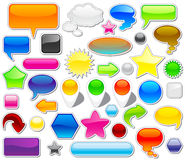 Jogo de elementos do Web Foto de Stock