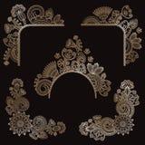 Jogo de elementos florais Imagem de Stock