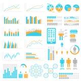 jogo de elementos de Infographic Moldes para infographic Elementos e coleção dos ícones Fotografia de Stock