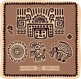 Jogo de elementos mexicanos do projeto Imagens de Stock