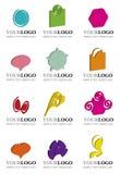 Jogo de elementos originais do logotipo 3D Foto de Stock Royalty Free