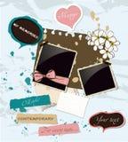 Jogo de elementos scrapbooking Pastel. Ilustração Stock
