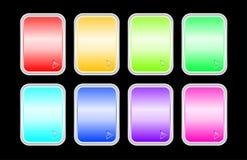 Jogo de emblemas do brilho Fotografia de Stock Royalty Free