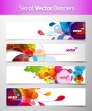 Jogo de encabeçamentos coloridos abstratos do Web. Fotos de Stock Royalty Free