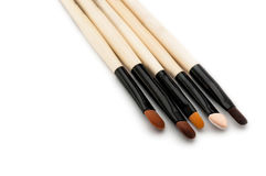 Jogo de escova da composição com a escova cinco Fotos de Stock Royalty Free