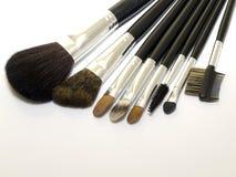Jogo de escovas cosméticas Imagens de Stock Royalty Free