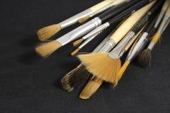 Jogo de escovas da arte Fotografia de Stock