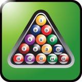 Jogo de esferas de bilhar Imagem de Stock