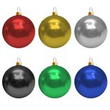 Jogo de esferas do Natal Foto de Stock Royalty Free