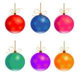 Jogo de esferas do Natal Fotos de Stock