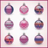 Jogo de esferas do Natal para o uso do projeto. Ícones Ilustração Royalty Free