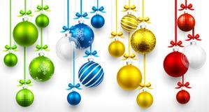 Jogo de esferas do Natal Vetor ilustração stock