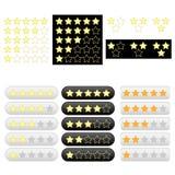 Jogo de estrelas douradas da avaliação Fotos de Stock Royalty Free