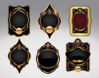 Jogo de etiqueta ornamentado decorativo Imagem de Stock Royalty Free