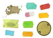 Jogo de etiquetas adesivas sujas Imagem de Stock