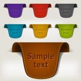 Jogo de etiquetas de couro coloridos do Tag Foto de Stock Royalty Free